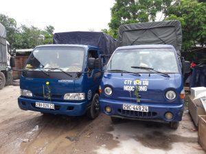 Dòng xe tải nhỏ chuyên dùng để chở hàng đường ngắn của Vận tải Ngọc Long