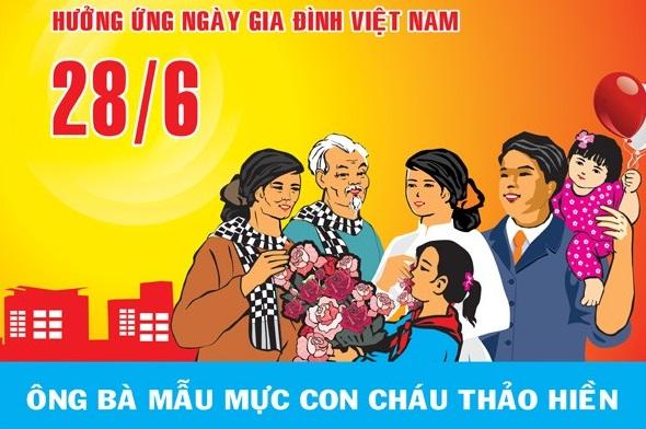 Nội dung Quyết định 72/2001/QĐ-TTG chọn Ngày gia đình Việt Nam